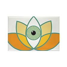 shamanistic 3rd eye lotus Magnets
