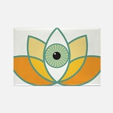 shamanistic 3rd eye lotus Magnets