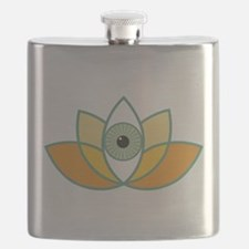 shamanistic 3rd eye lotus Flask