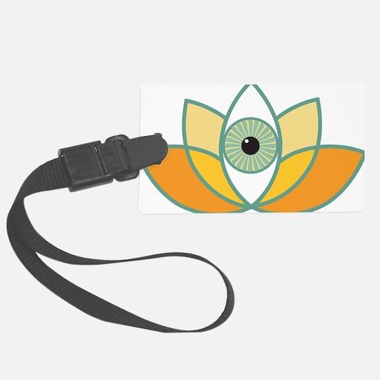 shamanistic 3rd eye lotus Luggage Tag