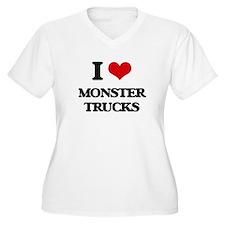 monster trucks Plus Size T-Shirt