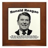 Ronald reagan Framed Tiles
