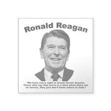 "Reagan: Dream Square Sticker 3"" x 3"""