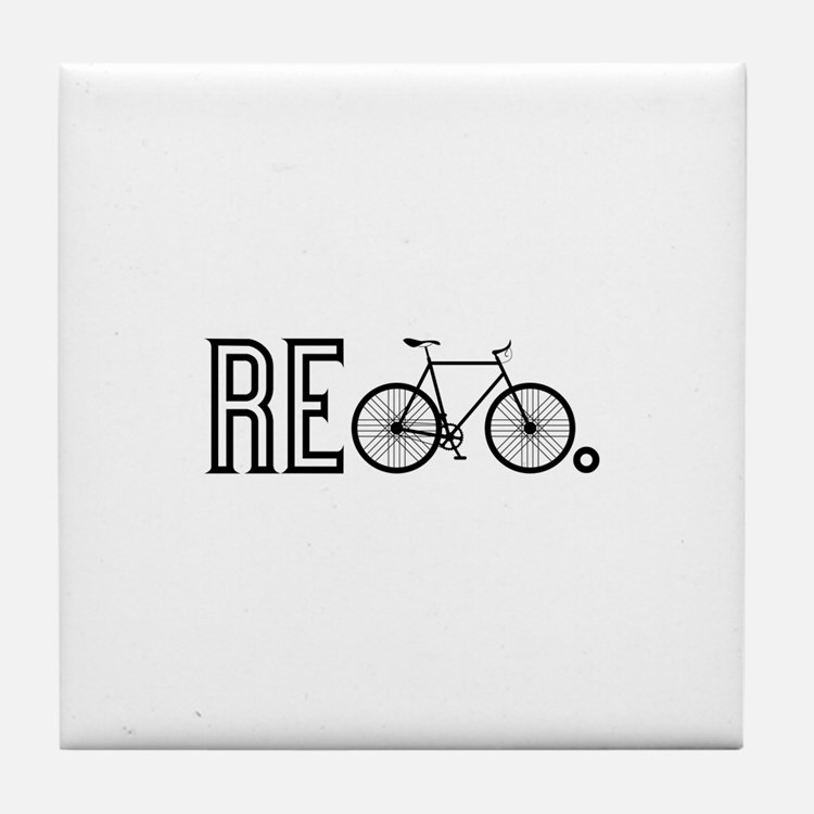 Re Bicycle Tile Coaster