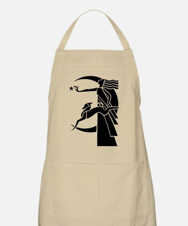 Diana or Artemis Huntress Goddess of Moon Apron