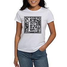 William Morris Cloister Alphabet Letter E T-Shirt