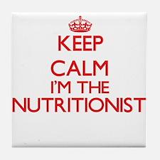 Keep calm I'm the Nutritionist Tile Coaster