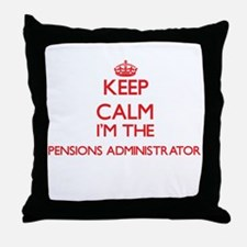 Keep calm I'm the Pensions Administra Throw Pillow