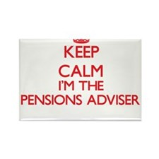 Keep calm I'm the Pensions Adviser Magnets