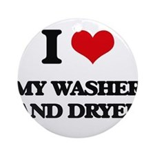 my washer and dryer Ornament (Round)