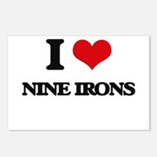 nine irons Postcards (Package of 8)