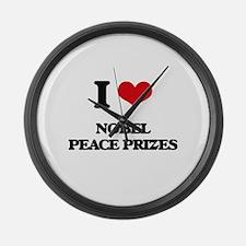 nobel peace prizes Large Wall Clock