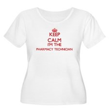 Keep calm I'm the Pharmacy Techn Plus Size T-Shirt