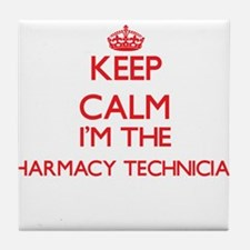 Keep calm I'm the Pharmacy Technician Tile Coaster