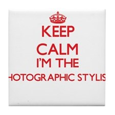 Keep calm I'm the Photographic Stylis Tile Coaster