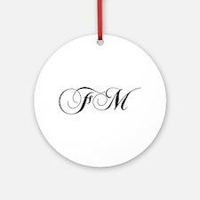FM-cho black Ornament (Round)