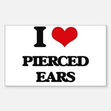 pierced ears Decal