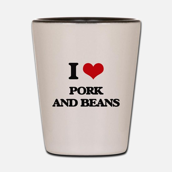 pork and beans Shot Glass