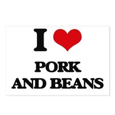 pork and beans Postcards (Package of 8)