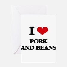 pork and beans Greeting Cards