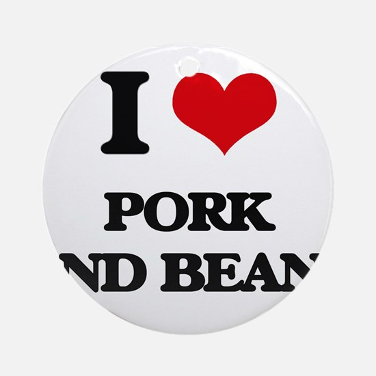 pork and beans Ornament (Round)