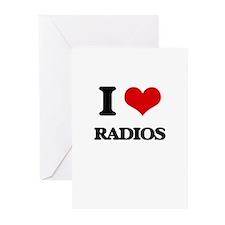 radios Greeting Cards