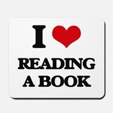 reading a book Mousepad