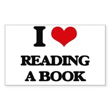 reading a book Decal