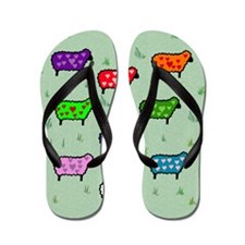 Chinese Year Of the Peaceful Sheep Flip Flops