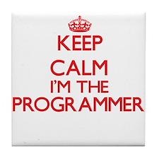 Keep calm I'm the Programmer Tile Coaster