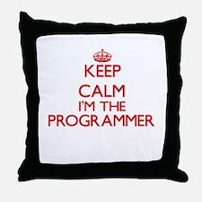 Keep calm I'm the Programmer Throw Pillow