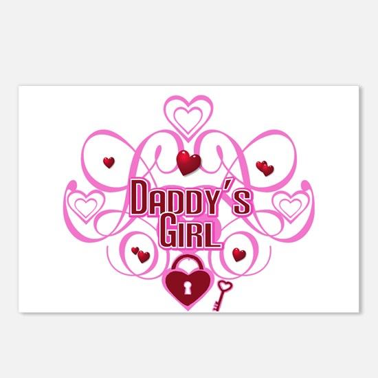 Daddy's Girl Pink/Red Postcards (Package of 8)
