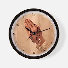 Rosary Blessings Wall Clock
