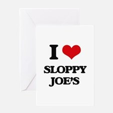 sloppy joe's Greeting Cards