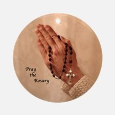Rosary Blessings Ornament (Round)