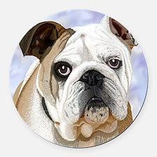 English Bulldog Round Car Magnet