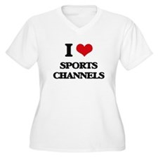 sports channels Plus Size T-Shirt