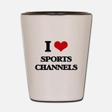 sports channels Shot Glass