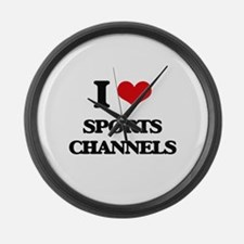 sports channels Large Wall Clock