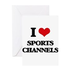 sports channels Greeting Cards