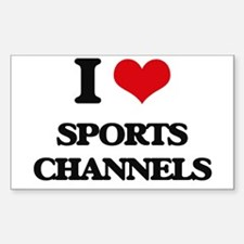 sports channels Decal