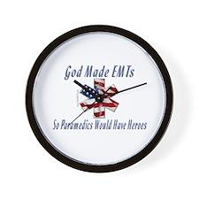 God Made EMTs Wall Clock