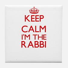 Keep calm I'm the Rabbi Tile Coaster