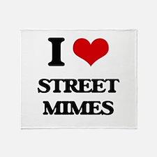 street mimes Throw Blanket