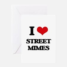 street mimes Greeting Cards