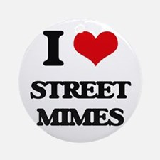 street mimes Ornament (Round)