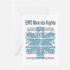 EMS Miranda Rights Greeting Cards (Pk of 10)
