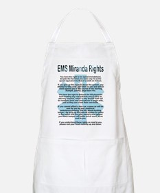 EMS Miranda Rights BBQ Apron