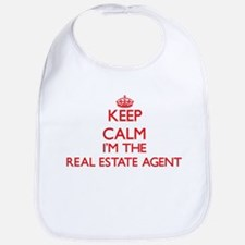 Keep calm I'm the Real Estate Agent Bib