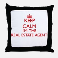 Keep calm I'm the Real Estate Agent Throw Pillow